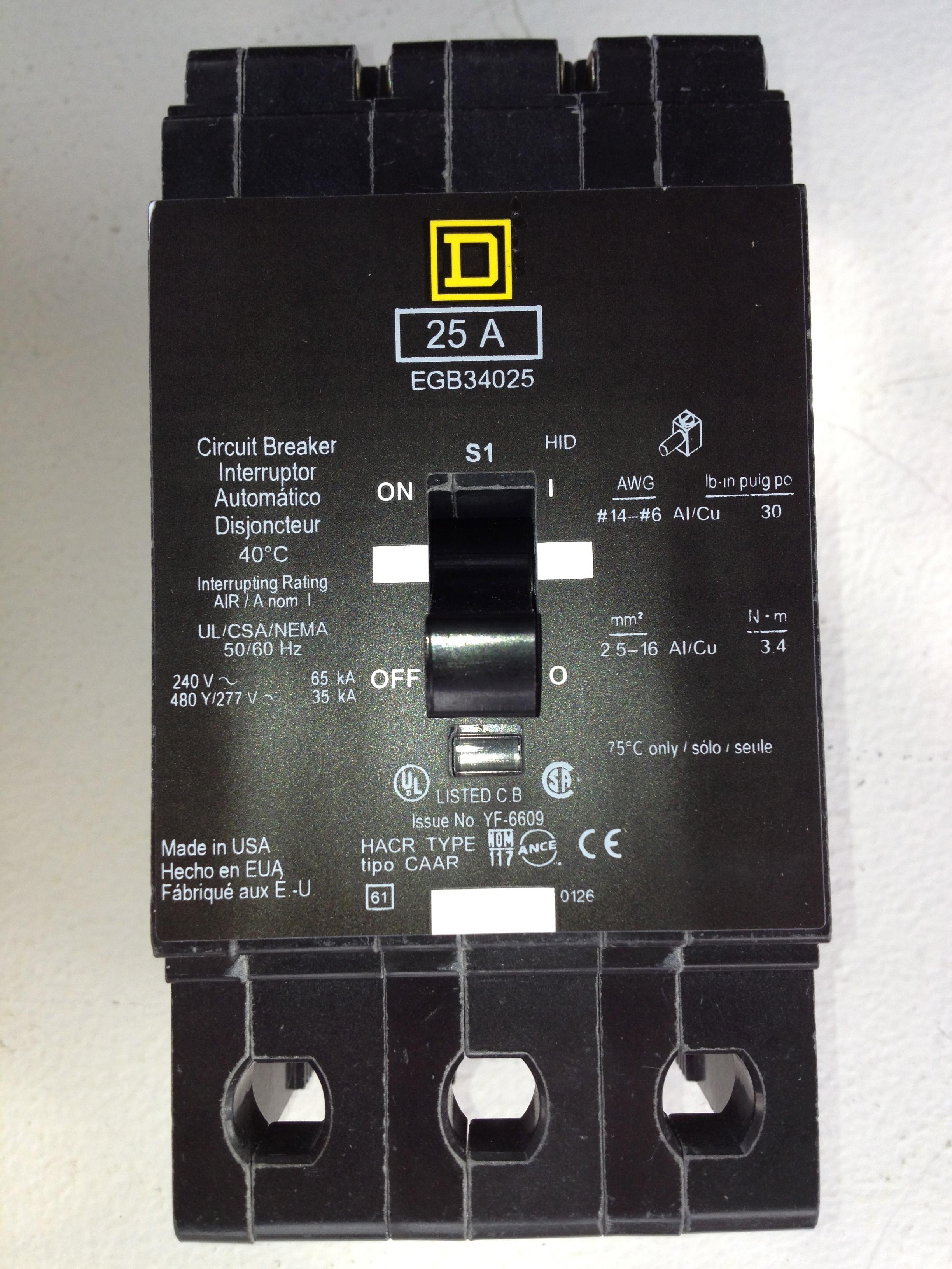 Square D 1P 40 A disjoncteur-Qo140